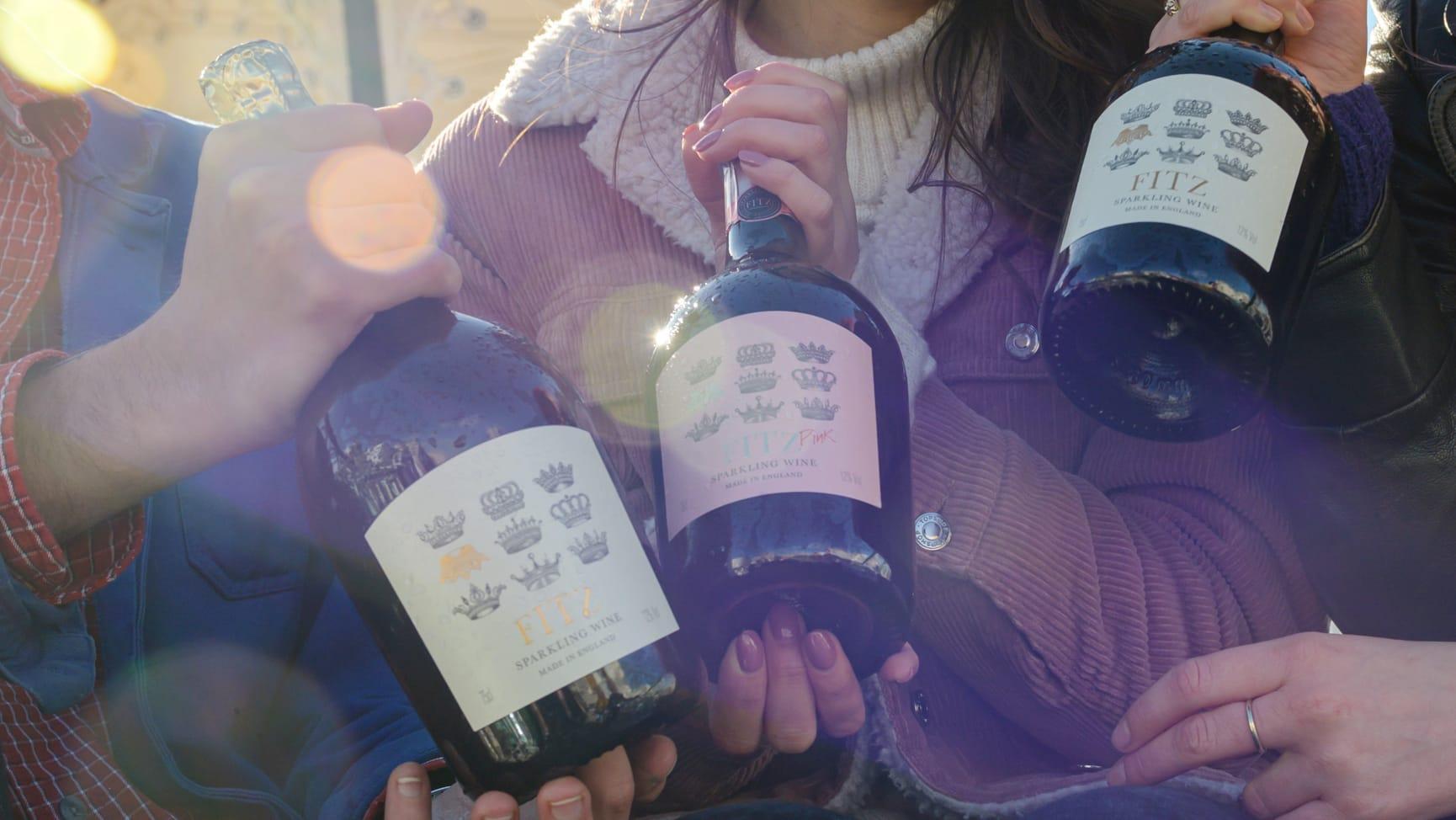Fitz White and Fitz Pink British Sparkling Wine