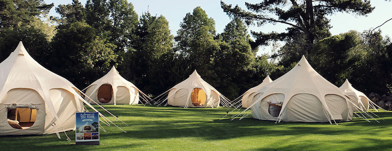 If you want to try before you buy we have a tent pitched right here in the woods at Riverside Cottages where you can take a look inside... and stay the ... & Hire Luxury Bell Tents | Festivals u0026 Glamping | Lotus Belle Tents UK